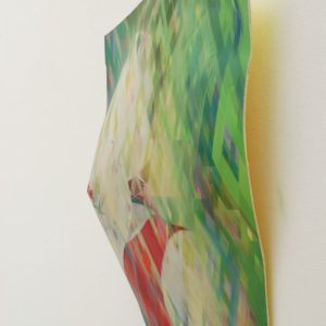 Model and System  1507018 -side view - 98 x 86 x 20 cm - inkjet/acryl/oil  coloured glass pigment on acrylicone panel